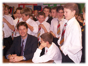 Nick Clegg was an excellent man to work for.  Here I went with him on a trip to a school in Stamford in Lincolnshire